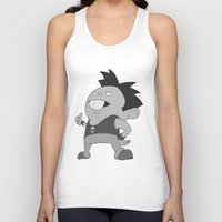 rat Tank Tops featuring Rat  by Gustrazo