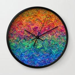 Fluid Colors G249 Wall Clock