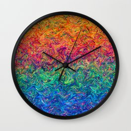 Fluid Colors G249 Wall Clock