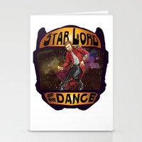 starlord Stationery Cards featuring (Star) Lord of the Dance by Fiendish Thingy Art