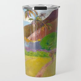 Tahitian Landscape by Paul Gauguin Travel Mug