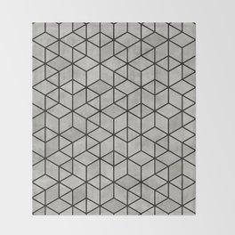 Random Concrete Cubes Throw Blanket