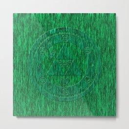 Zelda Green Art Triforce Metal Print