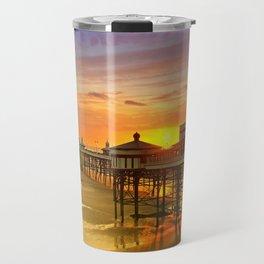 Blackpool North Pier Sunset Travel Mug