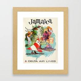 Vintage poster - Jamaica Framed Art Print