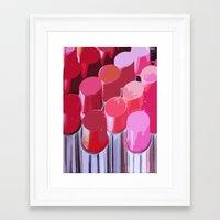 lipstick Framed Art Prints featuring Lipstick by Love2Snap
