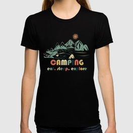 Camping. Eat. Sleep. Explore T-shirt