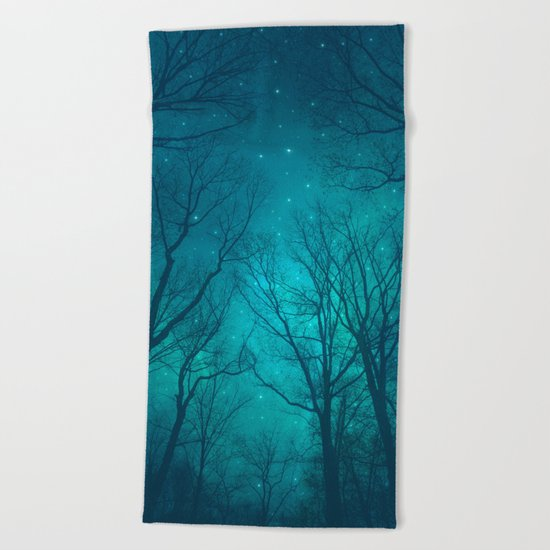 Only In the Darkness Beach Towel