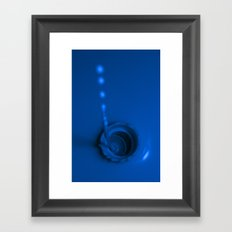 A Drop of Blue Framed Art Print