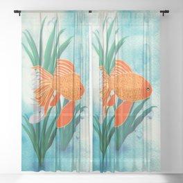 The Goldfish Sheer Curtain