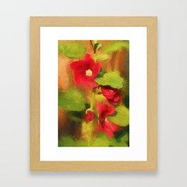 Hollyhock Framed Art Print