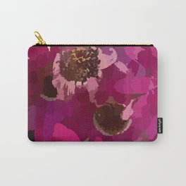 Deep Pink Daisies Carry-All Pouch