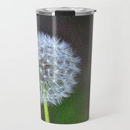 Dandelion ready to fly away - op Travel Mug