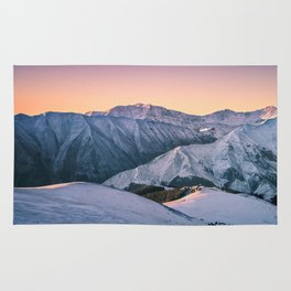 Winter Mountain View Rug