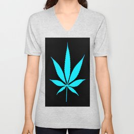 Weed : High Time Blue Unisex V-Neck