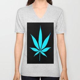 Weed : High Time Blue Unisex V-Neck