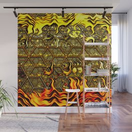 Psychedelic Honeycomb Wall Mural