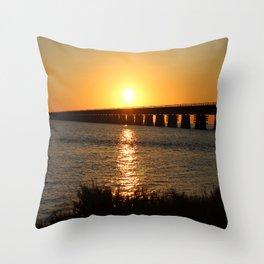 7 Mile Bridge Throw Pillow