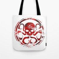 hydra Tote Bags featuring HYDRA by Trey Crim