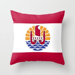 French Polynesia flag emblem Throw Pillow