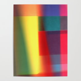 Colored blured pattern Poster