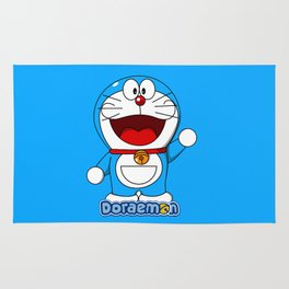 Doraemon cute smile 3 Rug