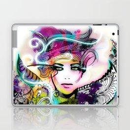 colorful floral illustration Laptop & iPad Skin