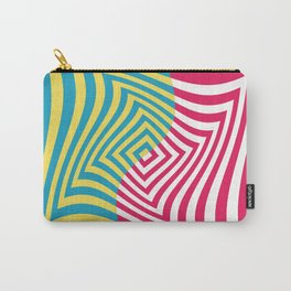 Colorful distorted Optical illusion art Carry-All Pouch