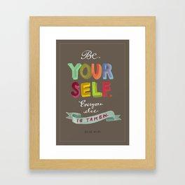 Smart People Say Smart Things Framed Art Print