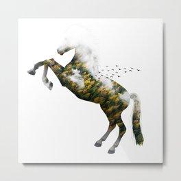 Forest Horse XIX Metal Print