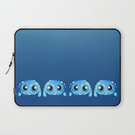 Bitty Blue Monster Laptop Sleeve