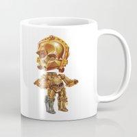c3po Mugs featuring C3PO by oRen