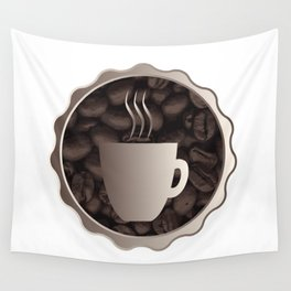 Roasted Coffee Cup Sign Wall Tapestry