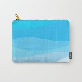 Tropical Dream - Blue Abstract Carry-All Pouch