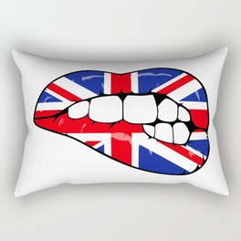 United Kingdom Lips Rectangular Pillow