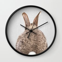Rabbit Tail - Colorful Wall Clock
