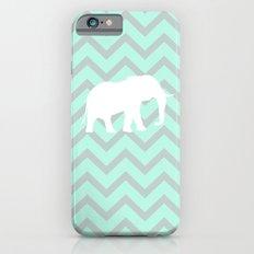 Pale Mint Chevron Elephant Pattern iPhone 6s Slim Case