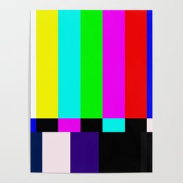 No Signal TV Poster