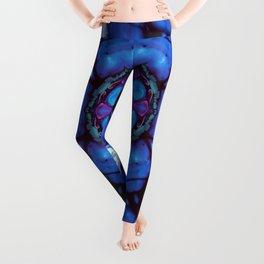 Digital Art Bue and Purple Kaleidoscope - Geometric Colorful Leggings