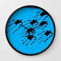 turtles Wall Clocks featuring Turtles!!! by designx79