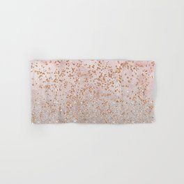 Mixed glitters on pink marble Hand & Bath Towel