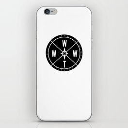 We Who Wander Compass iPhone Skin
