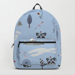 Boho Racoons Pattern Backpack