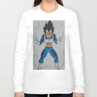 vegeta Long Sleeve T-shirts featuring Prince Vegeta by bmeow