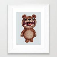 bioworkz Framed Art Prints featuring Eddy by Greg Abbott