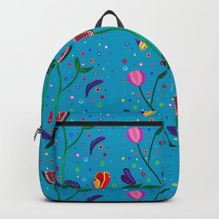 Flowers at Dusk, original art, repeated Backpack