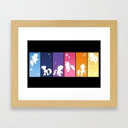 Rainbow Ponies Framed Art Print