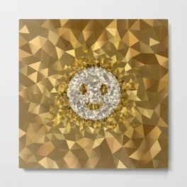 POLYNOID Smiley / Gold Edition Metal Print