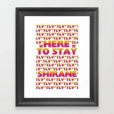 Shirane - Here to Stay (Forever TLV) Framed Art Print