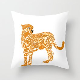 Mighty Cheetah  Throw Pillow